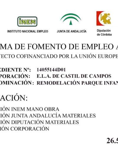 Subvenciones otorgadas a la E.L.A. de Castil de Campos 2.014 5