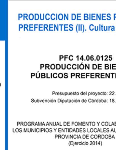 Subvenciones otorgadas a la E.L.A. de Castil de Campos 2.014 2