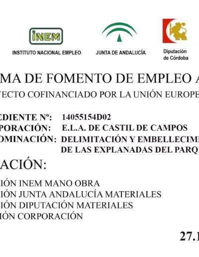 Subvenciones otorgadas a la E.L.A. de Castil de Campos 2.015 1