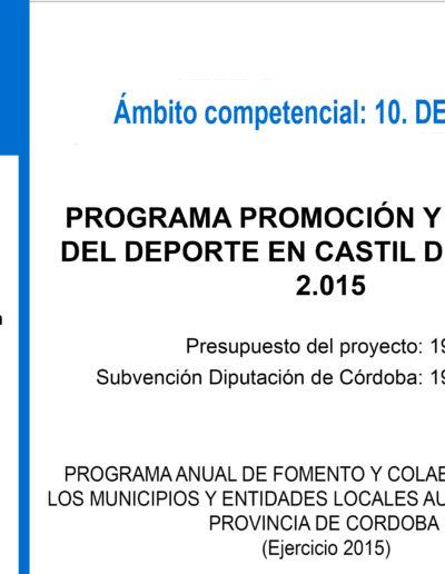 Subvenciones otorgadas a la E.L.A. de Castil de Campos 2.015 4