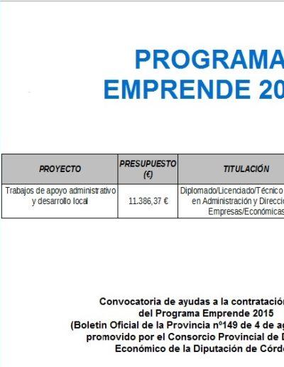 Subvenciones otorgadas a la E.L.A. de Castil de Campos 2.016 1