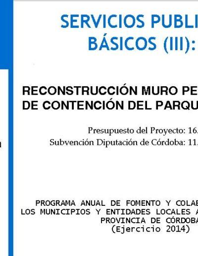 Subvenciones otorgadas a la E.L.A. de Castil de Campos 2.014 7