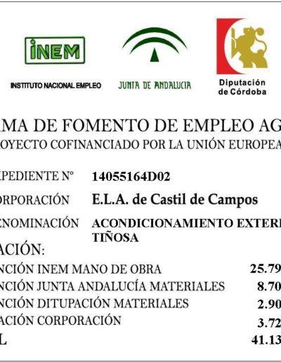 Subvenciones otorgadas a la E.L.A. de Castil de Campos 2.016 6