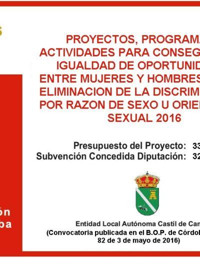 Subvenciones otorgadas a la E.L.A. de Castil de Campos 2.016 10