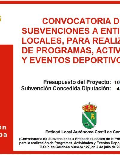 Subvenciones otorgadas a la E.L.A. de Castil de Campos 2.016 12