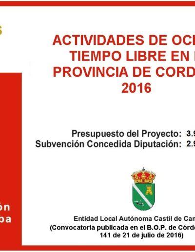 Subvenciones otorgadas a la E.L.A. de Castil de Campos 2.016 11
