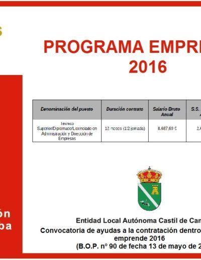 Subvenciones otorgadas a la E.L.A. de Castil de Campos 2.016 14