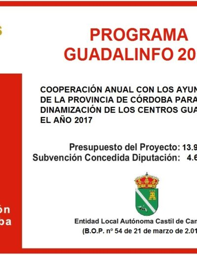 Subvenciones otorgadas a la E.L.A. de Castil de Campos 2.017 1