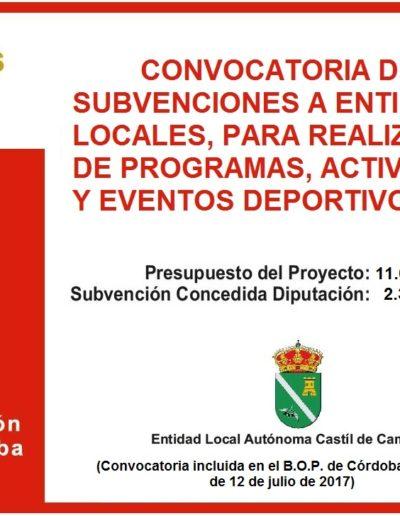 Subvenciones otorgadas a la E.L.A. de Castil de Campos 2.017 13