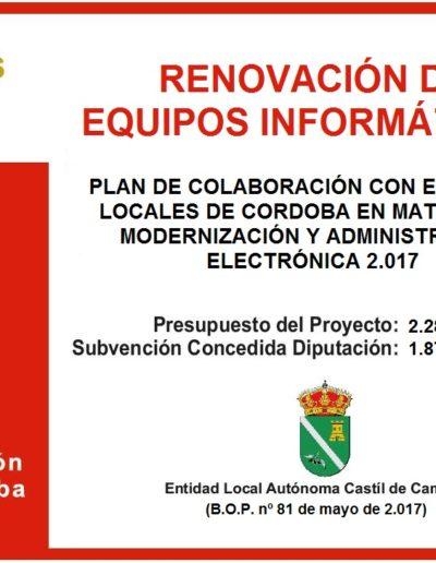 Subvenciones otorgadas a la E.L.A. de Castil de Campos 2.017 9