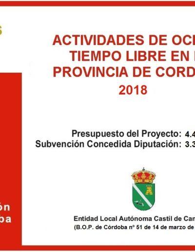 Subvenciones otorgadas a la E.L.A. de Castil de Campos 2.018 10