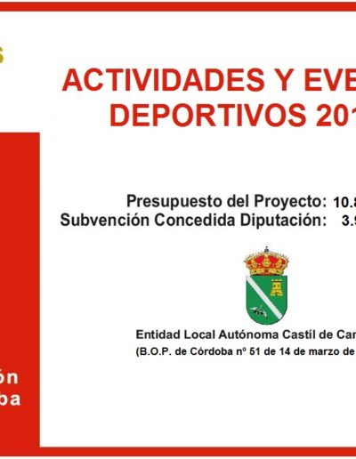 Subvenciones otorgadas a la E.L.A. de Castil de Campos 2.018 7