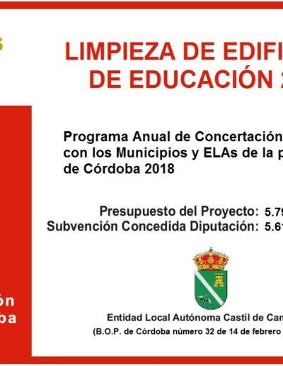 Subvenciones otorgadas a la E.L.A. de Castil de Campos 2.018 4