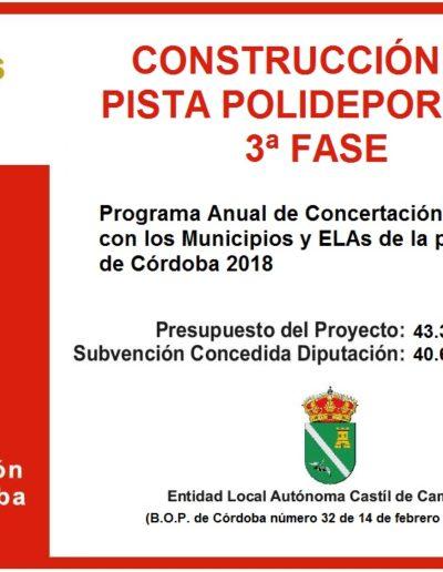 Subvenciones otorgadas a la E.L.A. de Castil de Campos 2.018 2