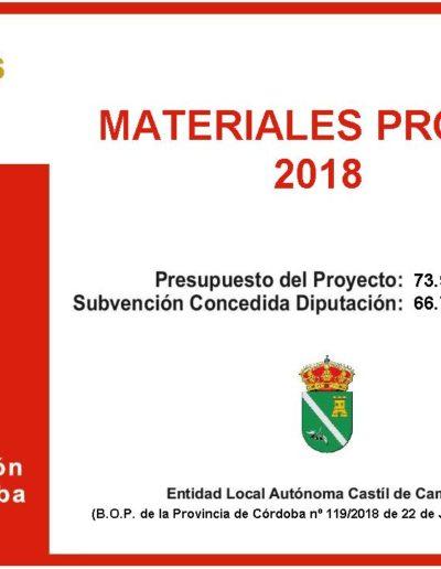 Subvenciones otorgadas a la E.L.A. de Castil de Campos 2.018 12