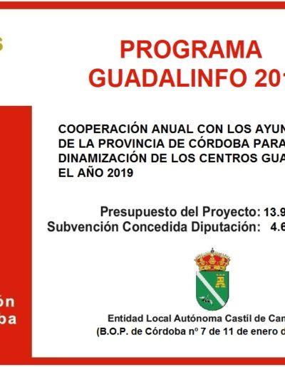Subvenciones otorgadas a la E.L.A. de Castil de Campos 2.019 1