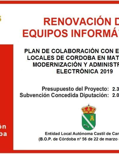 Subvenciones otorgadas a la E.L.A. de Castil de Campos 2.019 5