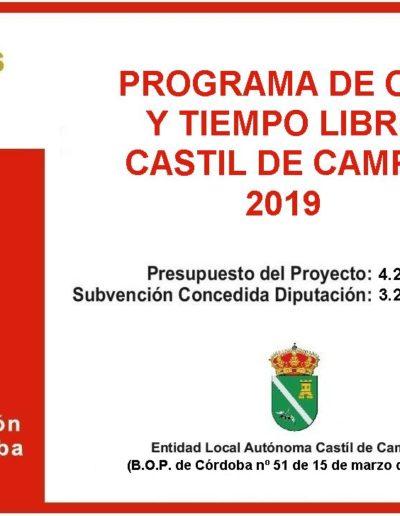 Subvenciones otorgadas a la E.L.A. de Castil de Campos 2.019 14