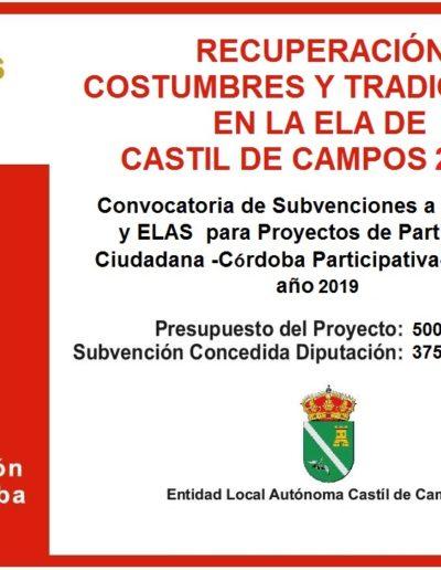 Subvenciones otorgadas a la E.L.A. de Castil de Campos 2.019 4