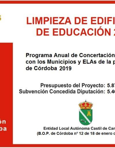 Subvenciones otorgadas a la E.L.A. de Castil de Campos 2.019 8