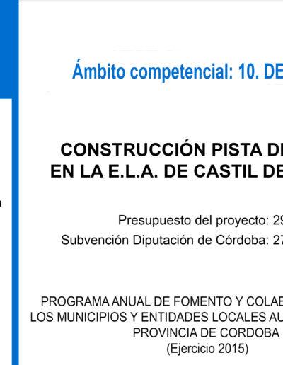 Subvenciones otorgadas a la E.L.A. de Castil de Campos 2.015 3
